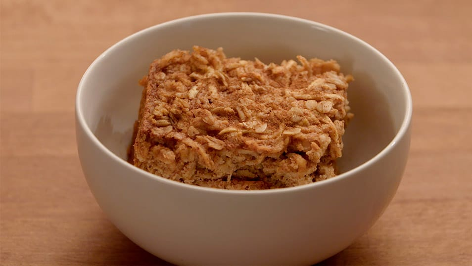 Almond Butter and Apple Baked Oatmeal